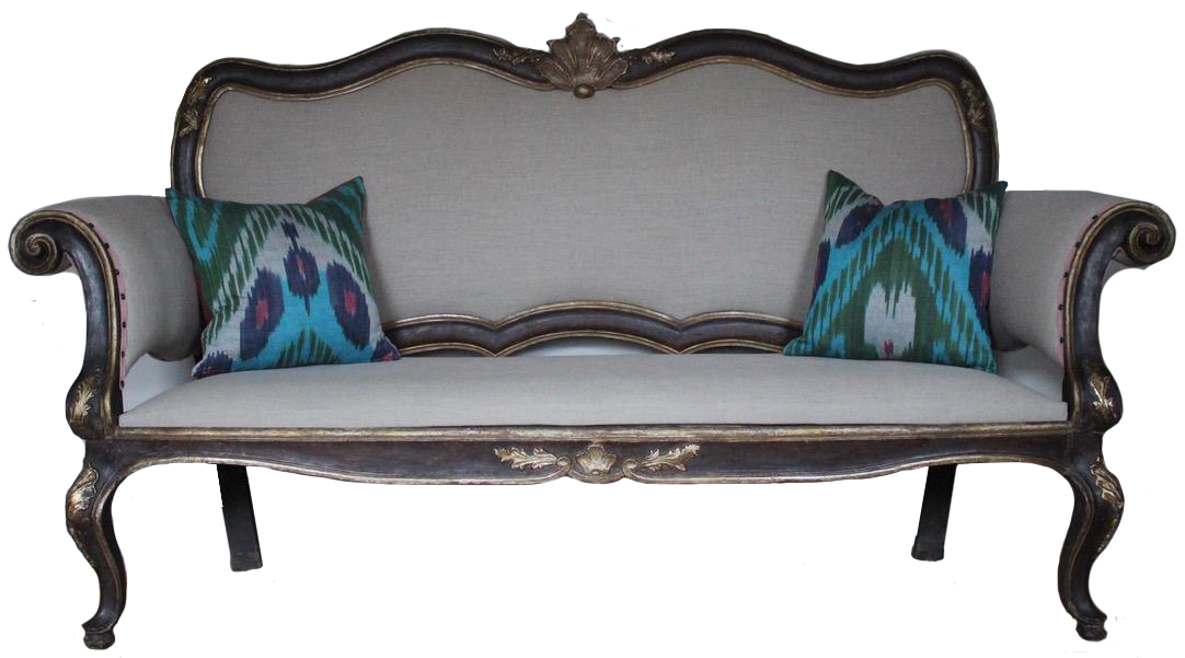 18th Century Italian Painted and Gilded Sofa / Bench