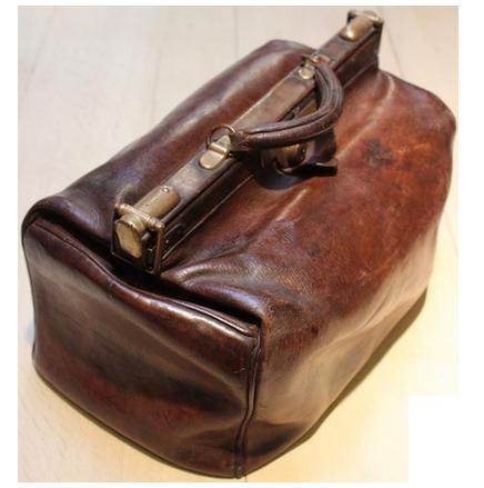 1920s English Gladston Leather Bag