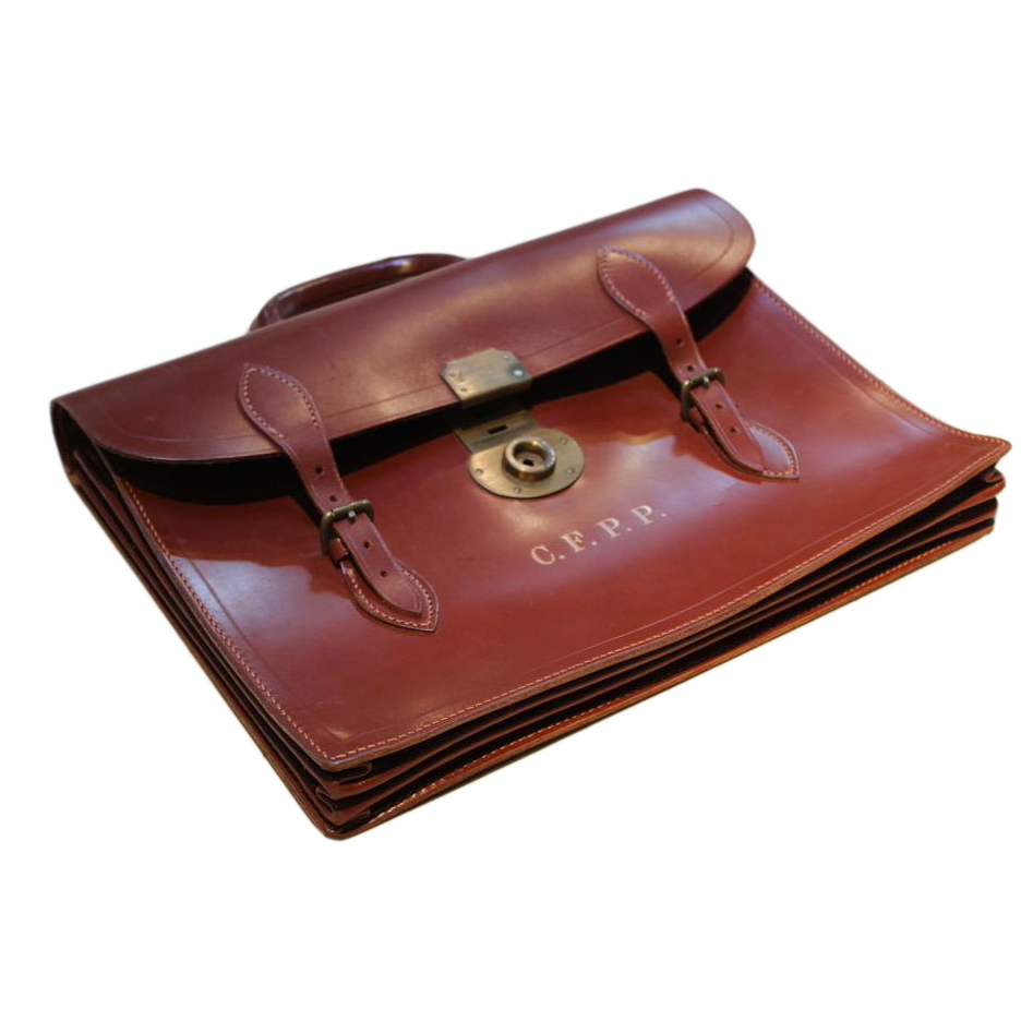 1930s English Leather Briefcase