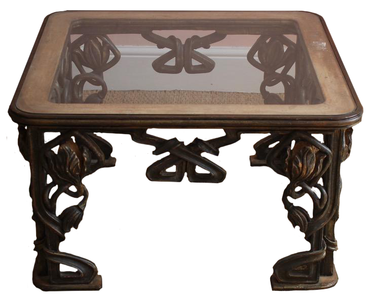 1940s Italian Coffee Table in the Style of Liberty