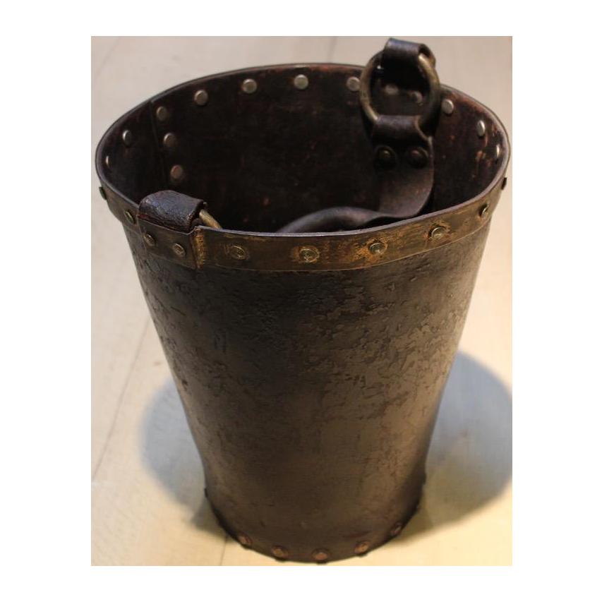 1940s Leather Fire Bucket