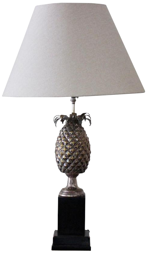 1950s/60s Spanish Silver-plated Pineapple Table Lamp