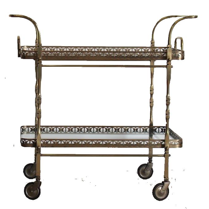 1950s Italian Brass Trolley