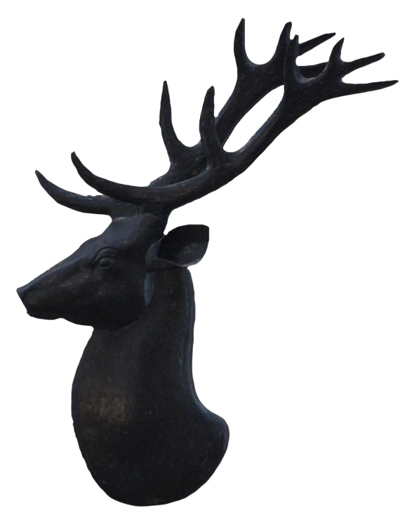 1960s/70s Spanish Wall Hanging Sculpture of a Deer
