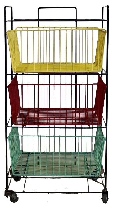1960s French Filing Trolley
