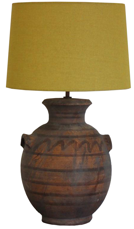 1960s French Terracotta Table Lamp
