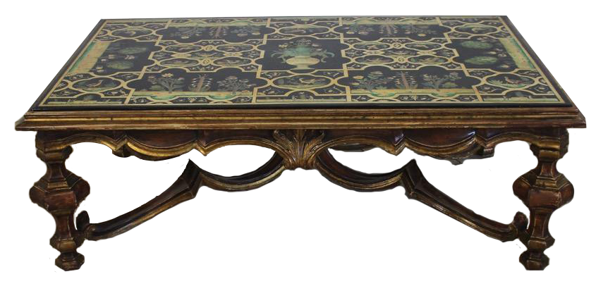 1970s Italian Coffee Table in the Baroque Style
