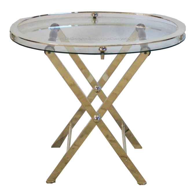 1970s silver Plated & Glass Tray and Stand