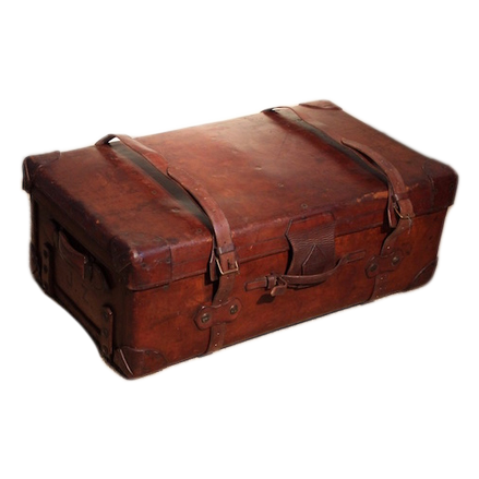19th cent Hill & Millard Leather Suitcase