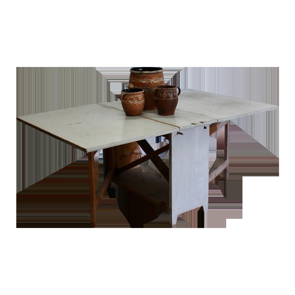 19th cent Swedish Folding Dining Table