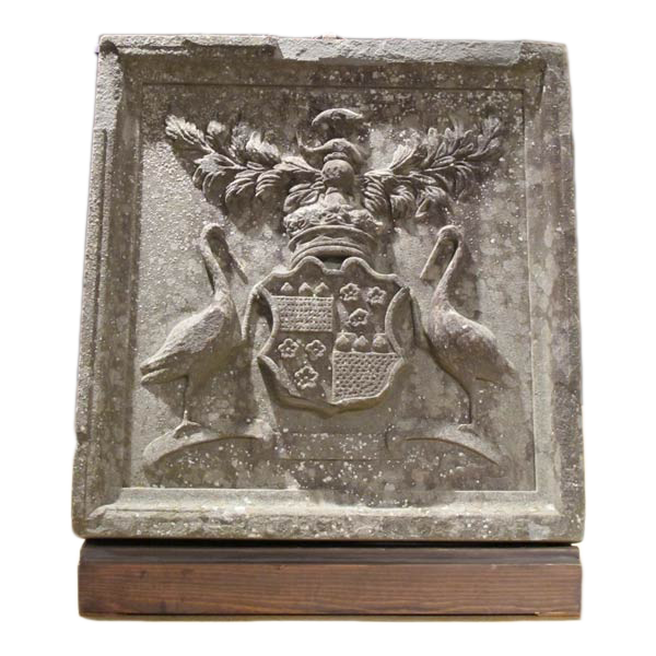 19th Century Carved Stone Coat of Arms