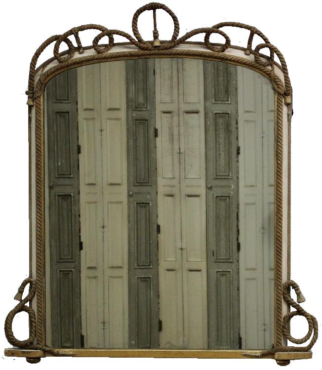19th Century English  Overmantle Mirror