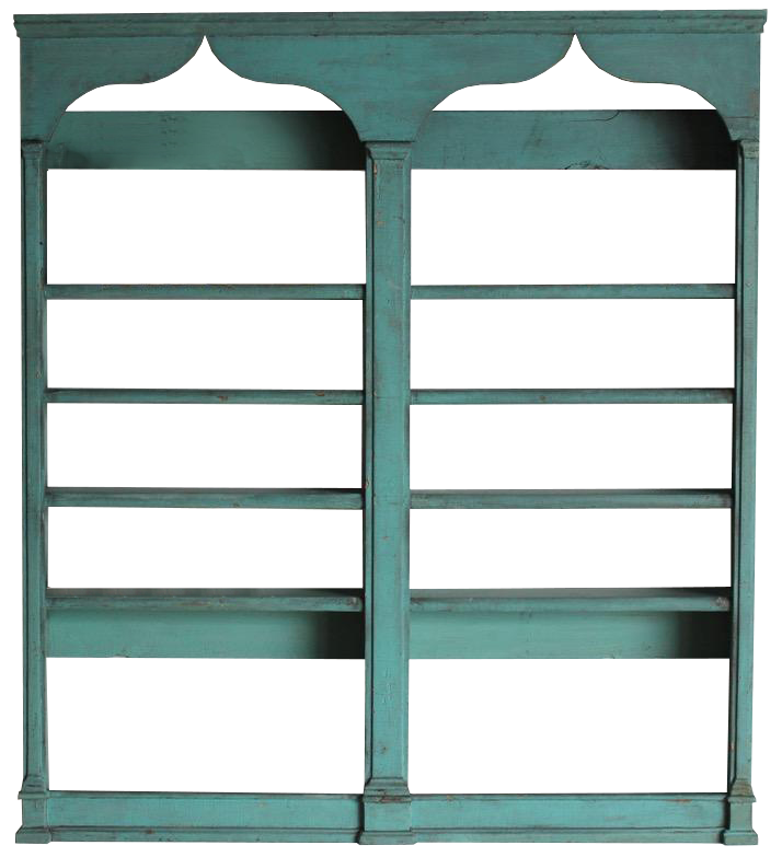 19th Century English Painted Shelves / Display Cupboard