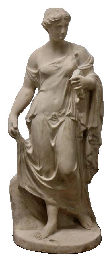 19th Century English Terracotta Classical Statue