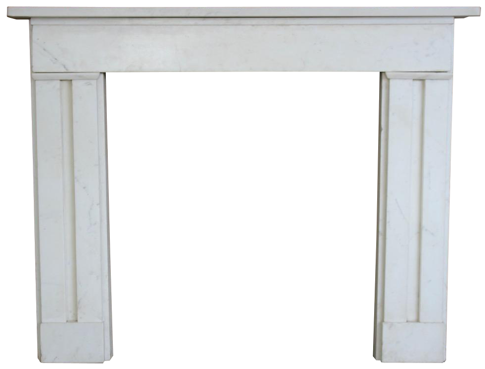19th Century English William IV Antique marble Fireplace