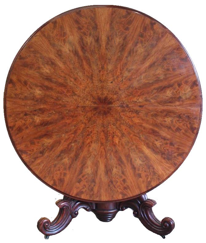19th Century French Mahogany Centre Table