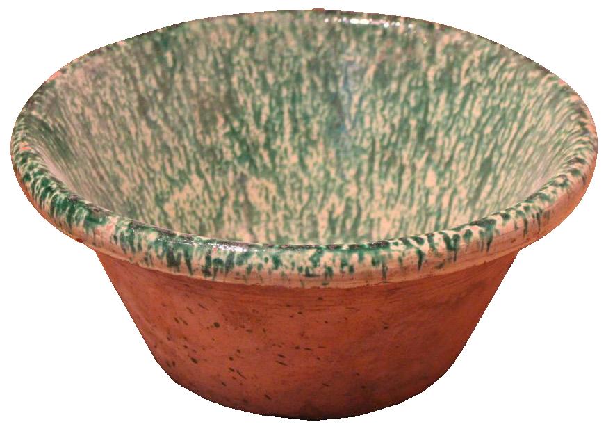 19th Century Spanish Glazed Ceramic Bowl