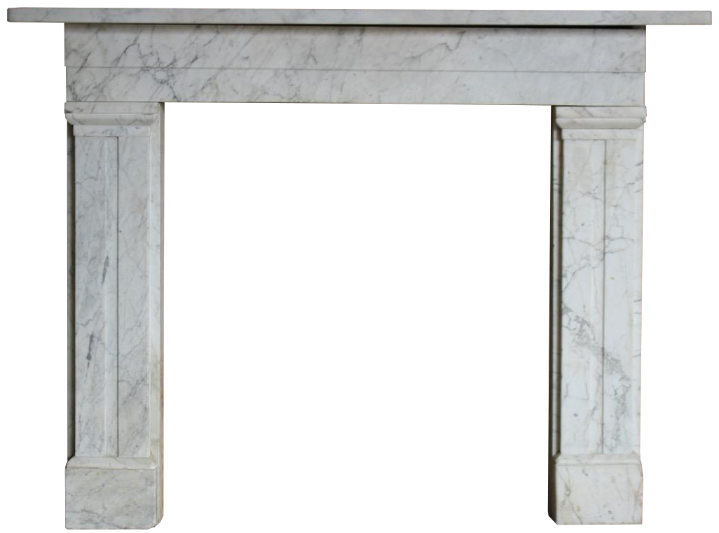 19th Century William IV Marble Fireplace