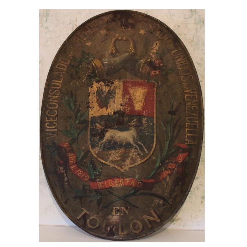 Antique Venezuelan Consulat Sign