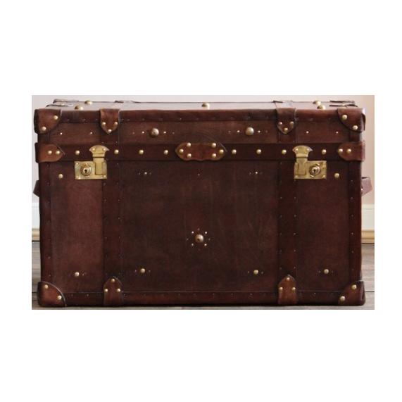 Bespoke Leather Cabin Trunk / Coffee Table