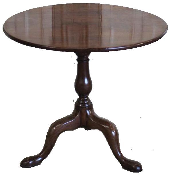 C18th English Georgian Cuban Mahogany Tripod Table with a wonderful colour