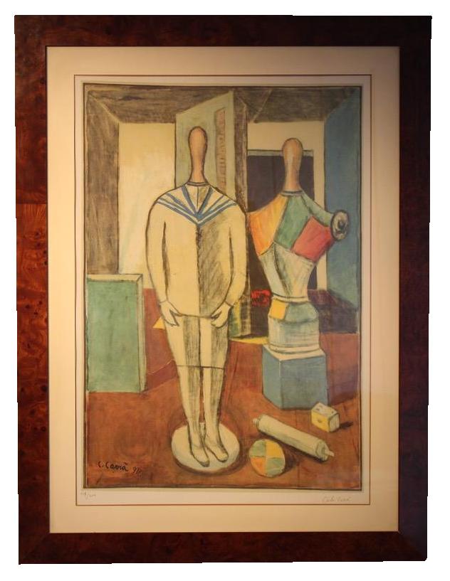 Carlo Carrà ( Quargneto,1881-Milano 1966 ) Mother & Son