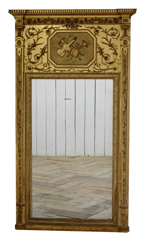 Circa 1800 Large Swedish Mirror of Great Proportions