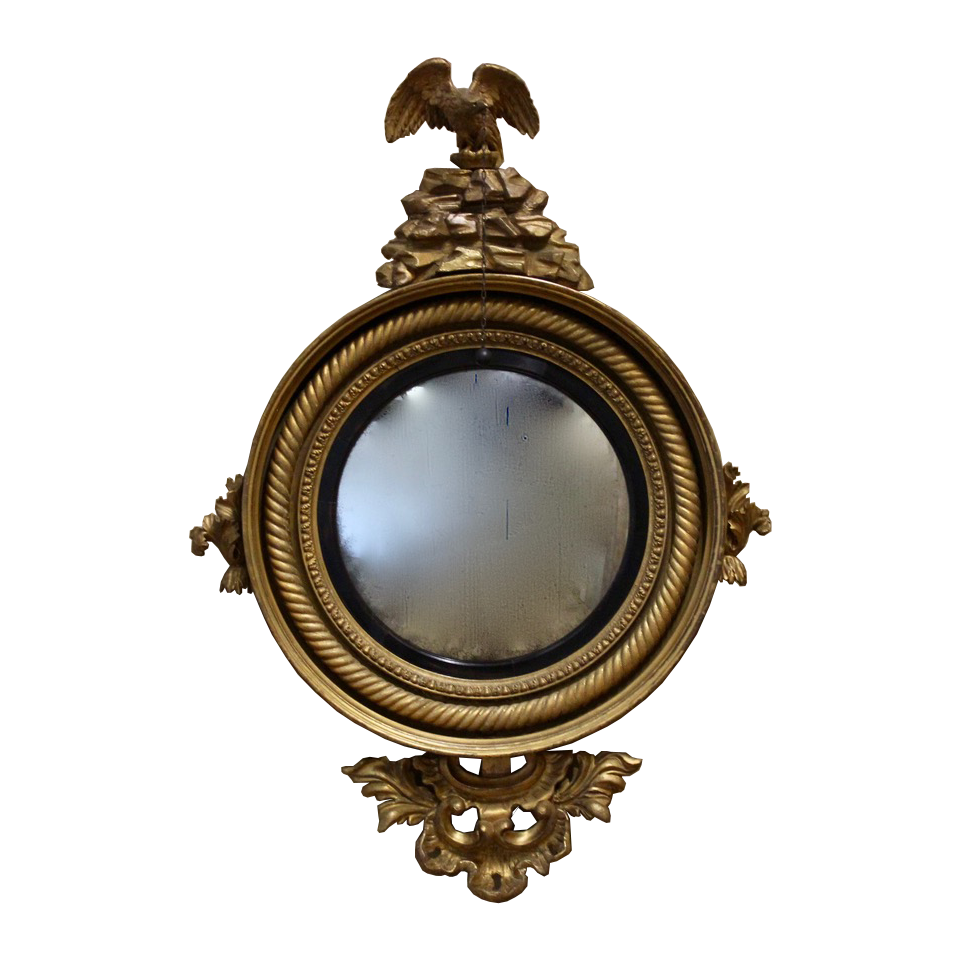 Early 19th Cent English Regency Convex Mirror
