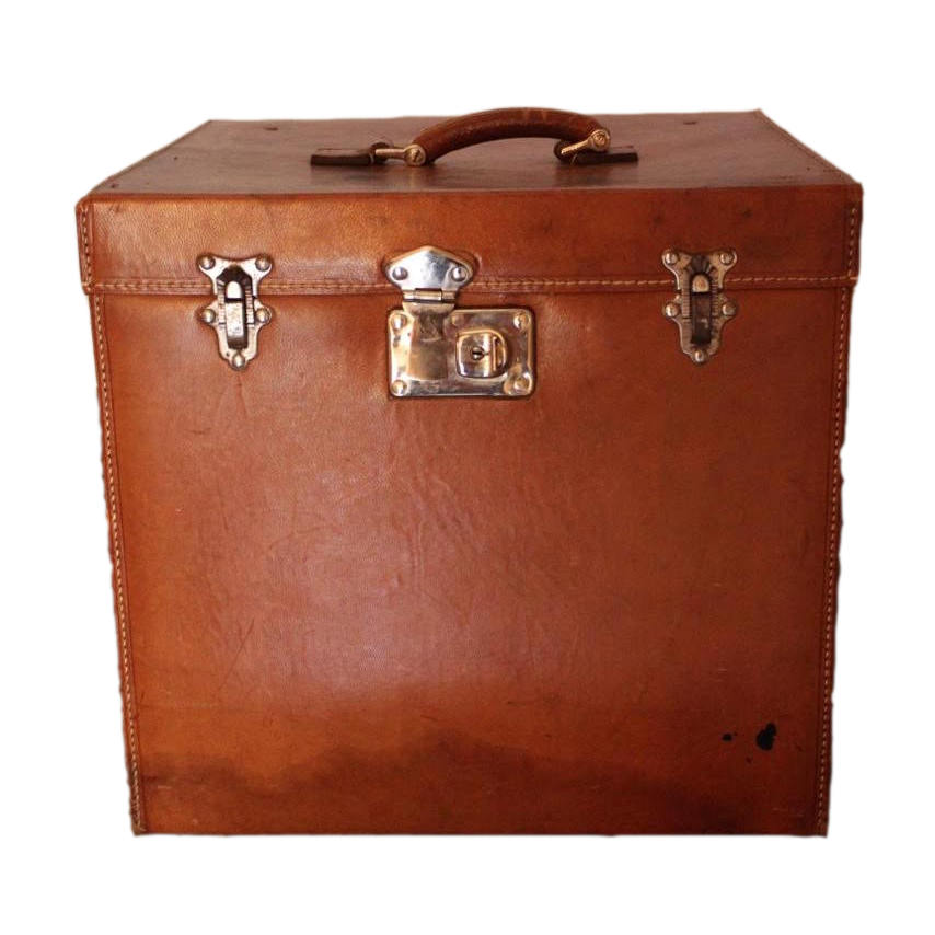 Early 20th Century Leather Hatbox