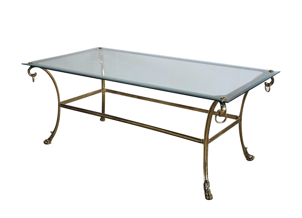 Fine quality 1950s French Dining Table in Brass & Polished Steel
