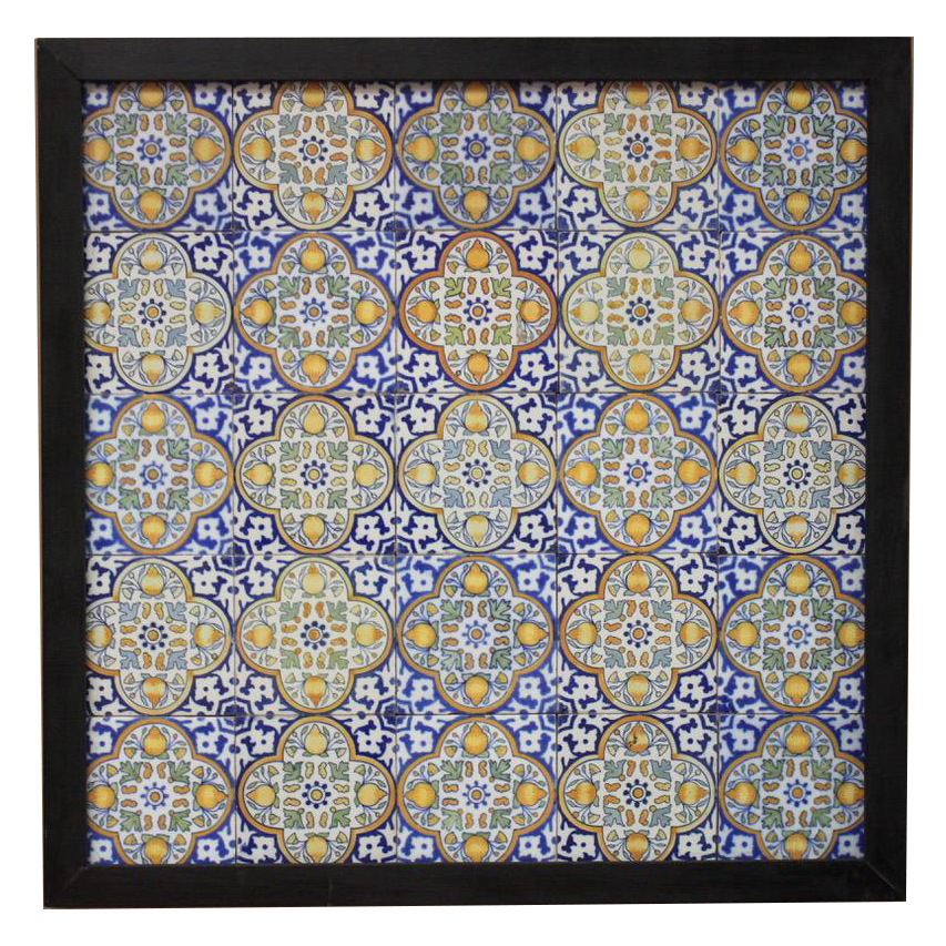 Good Pair of 19th century Dutch framed Tiles