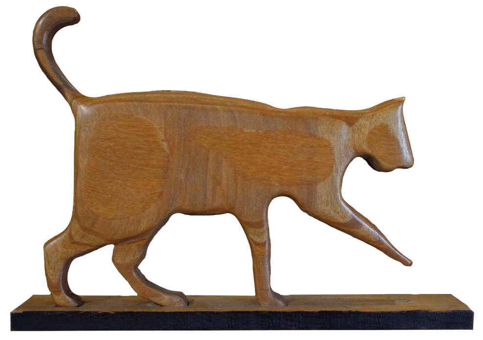 Highly Decorative 1950s French Sculpture of  Cat