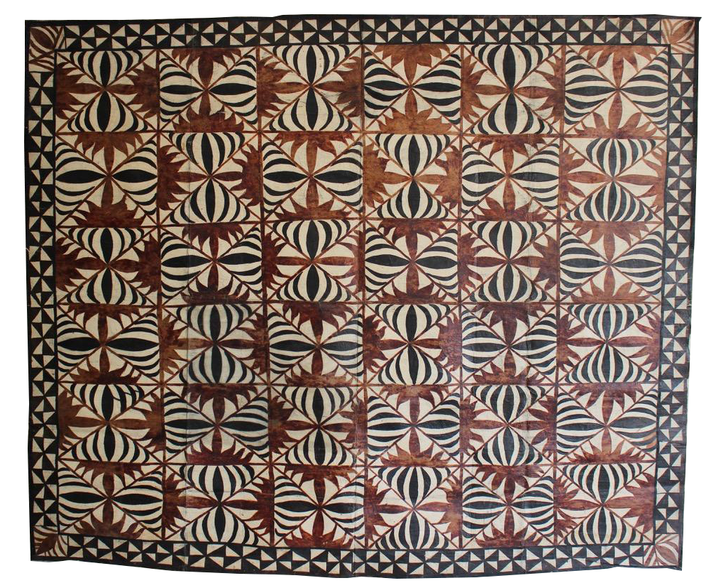 Large 1940s/50s Tribal Tapa from Fiji