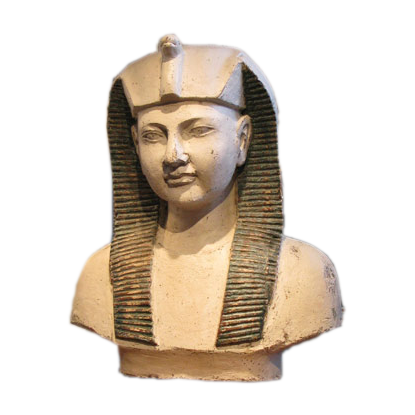 Large Circa 1900 Wooden Bust of an Egyptian