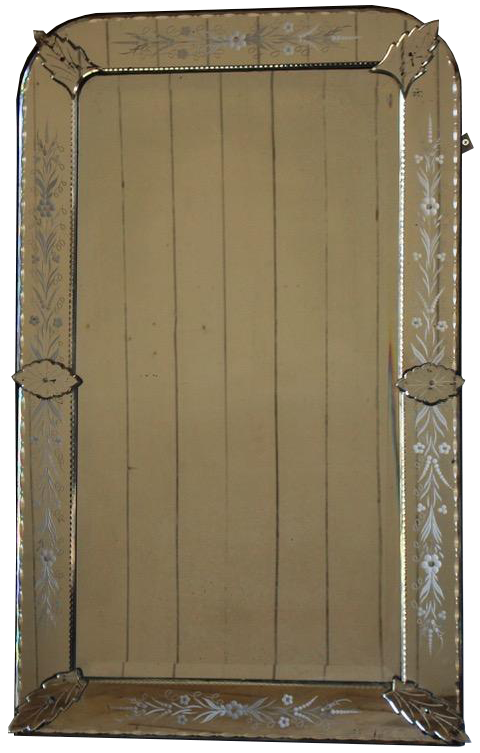 Large Late 19th Cent French Mirror in the Venetian taste