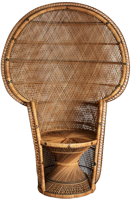 Large Mid to Late 20th Century Wicker Armchair