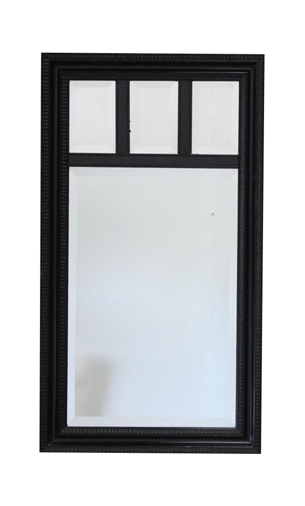 Large Pair of 1940s Later Ebonised French Mirrors