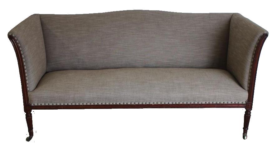 Late 19th cent English mahogany Sofa in the Regency Taste