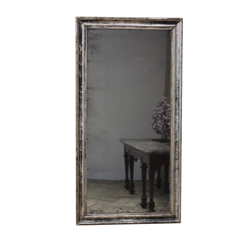 Late 19th cent French Silver Gilt Mirror