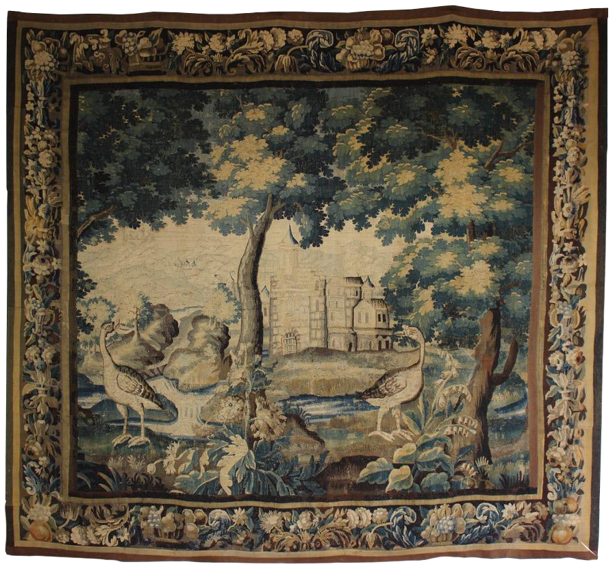 Late C17th /Early C18th  French Aubusson Wool and Silk Tapestry