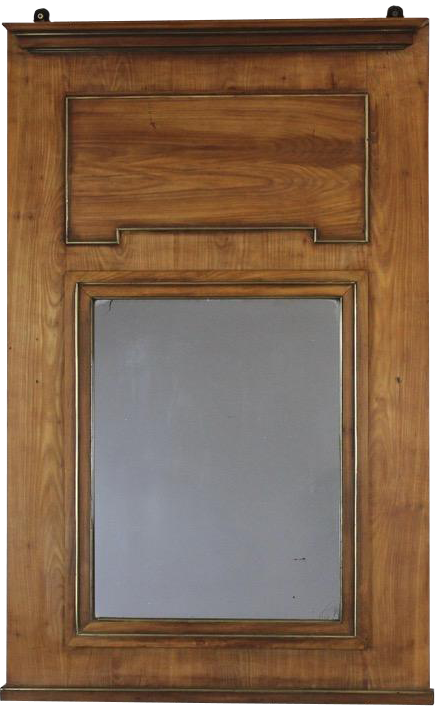 Mid 19th century French Fruitwood Mirror