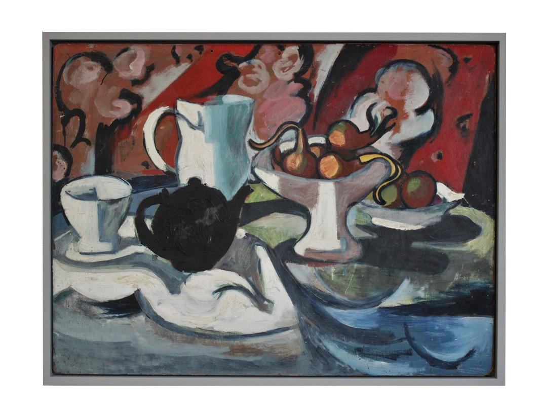 Mid 20th cent French Oil on Board