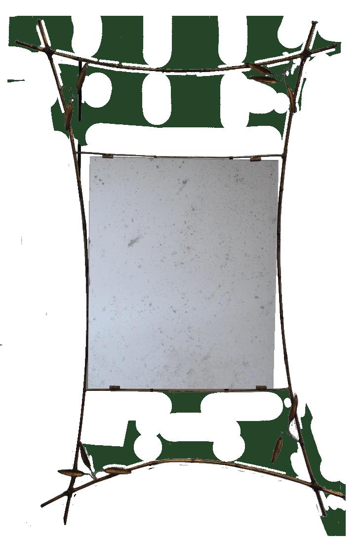 Mid 20th Century Spanish Gilded Metal Mirror