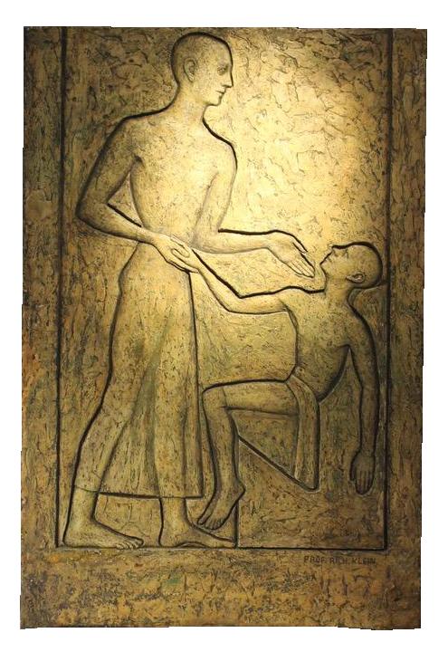 Original Plaster Artwork by Richard Klein ( 1890-1967 )