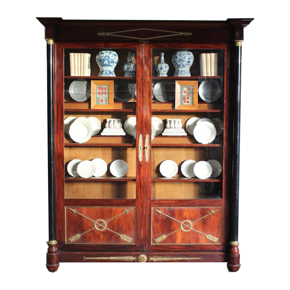 Outstanding Pair of Late C19th French Mahogany  Bookcases/ Display Cabinets