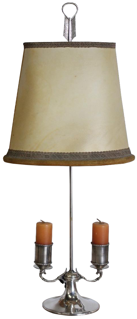 Pair of 1960s Silver-plated Spanish Bouillot Lamps