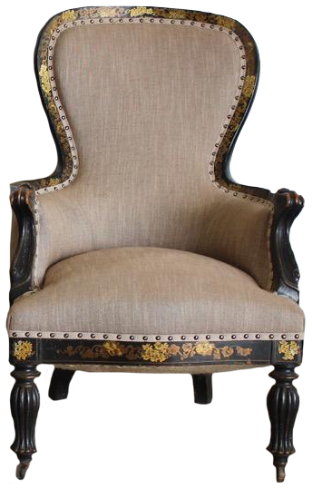 Pair of 19th Cent French Napoleon III Armchairs