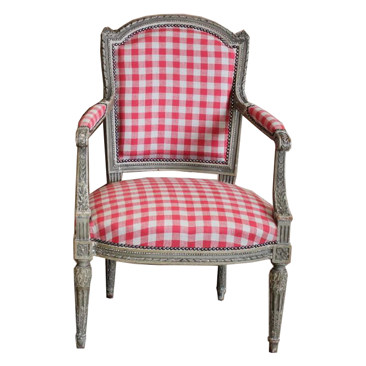 Pair of 19th Cent French Painted Fauteuils in the Louis XVI taste