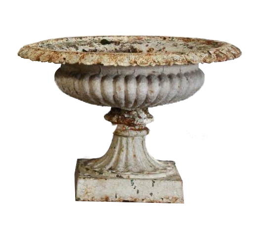 Pair of 19th century English Cast Iron Garden Urns