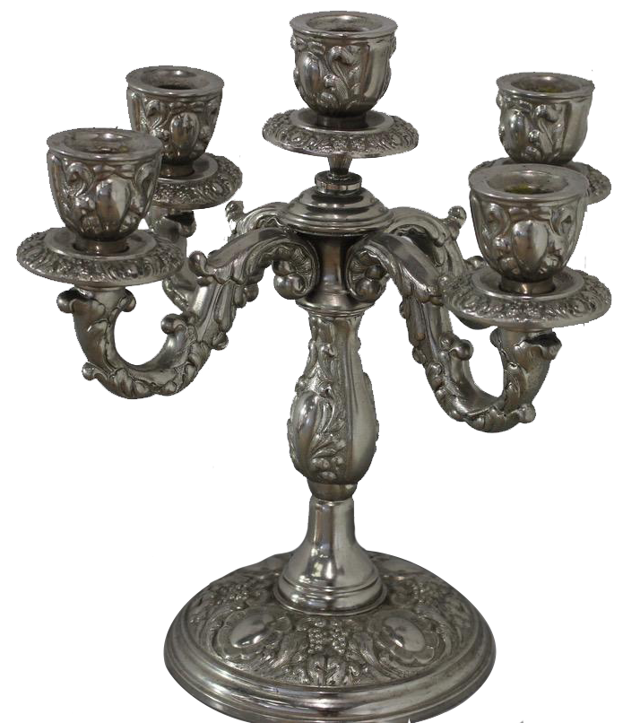 Pair of Mid 20th Century Spanish Silverplated  Candelabras